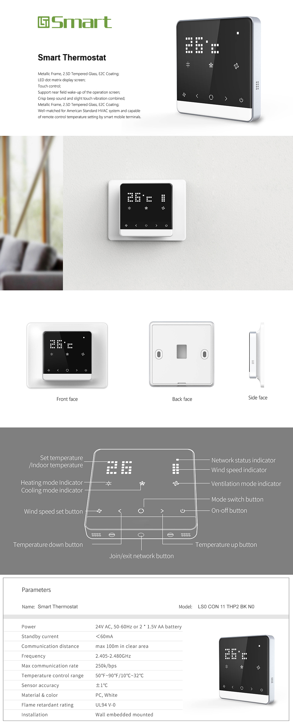 Smart Thermostat | LT Smart- Smart Glass/ NB- IoT and Home