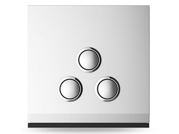 Three-gang switch(plastic)