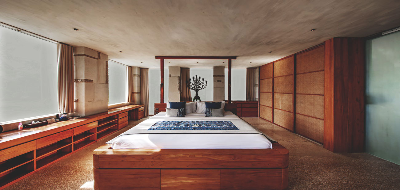 Modern Wooden Bedrooms with Smart Glass Windows